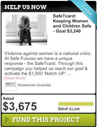SafeTcard: Keeping Women and Children Safe - Goal $3240